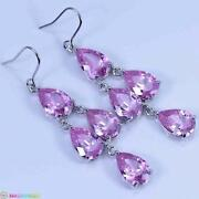 Pink Kunzite Earrings