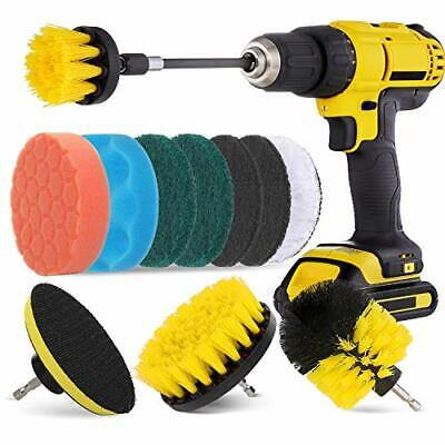 Power Scrubber Drill Brush Pad Sponge Kit With Extend Attachment For Bathroom
