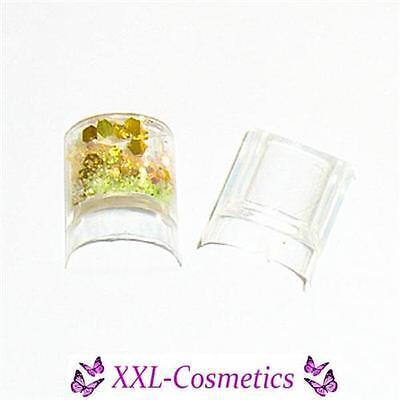 100 Aquarium Tips Nagelspitzen Clear NEUHEIT im Tipbox + 1 Glitter Gratis - Glitter Spitzen