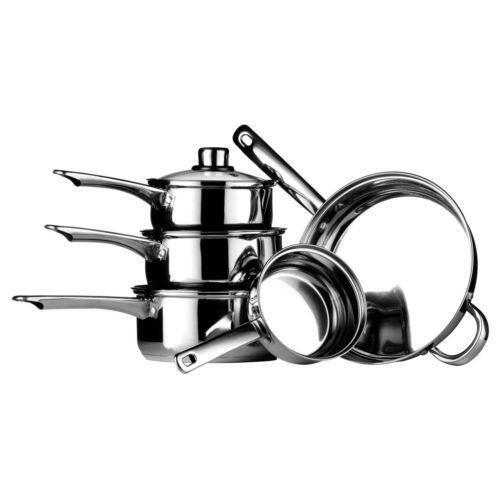 induction hob saucepan set ebay. Black Bedroom Furniture Sets. Home Design Ideas