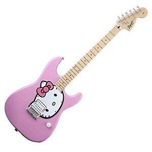 hello kitty guitar ebay. Black Bedroom Furniture Sets. Home Design Ideas