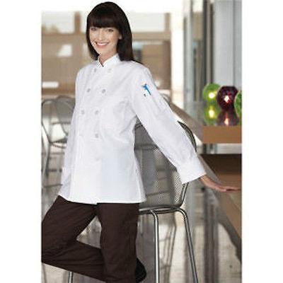 Women's White Chef Coats, Back Vent - Size: Medium - (Ladies Chef Coats)