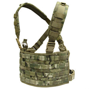 CONDOR-MOLLE-Tactical-Nylon-OPS-Chest-Rig-mcr4-Genuine-Crye-Multicam-Camo