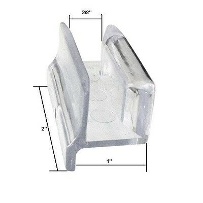 Clear Acrylic Sliding Shower Door Bottom Guide with Screw