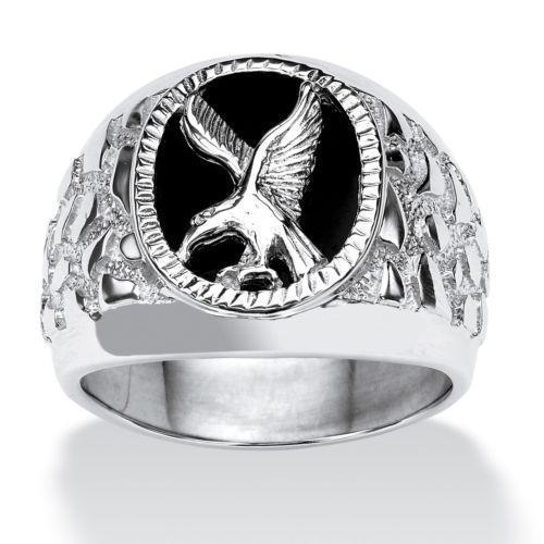 Mens Sterling Silver Eagle Ring Ebay