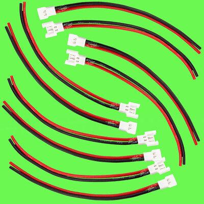 ► (10 Stück) 5 Paar Walkera Molex 2 Pin Stecker + Kabel 22AWG Akku Lipo Batterie 2 Pin Stecker
