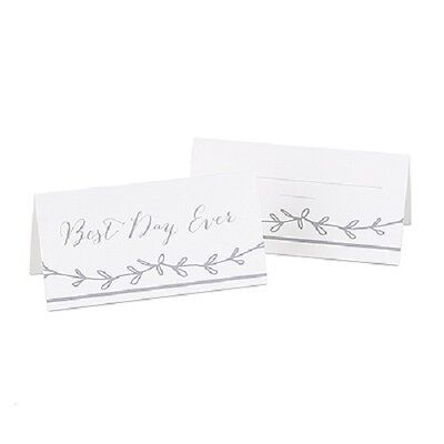 Set of 25 Rustic Vines Best Day Ever Self-Standing Wedding Place Cards ](Rustic Place Cards)