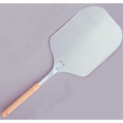Pizza Peel Aluminum Blade With Wood Handle. Blade Size 12 X 14