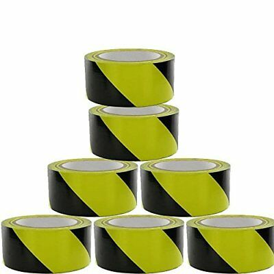 WARNING HAZARD BARRIER SELF SAFETY ADHESIVE BLACK/YELLOW TAPE PVC ROLL 48mm x33m