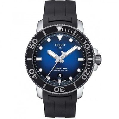 NEW TISSOT SEASTAR POWERMATIC 80 BLUE DIAL T1204071704100 T120.407.17.041.00
