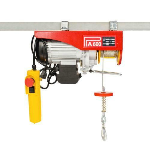1320lb Mini Electric Wire Cable Hoist Winch Crane Lift Overhead + Remote Control
