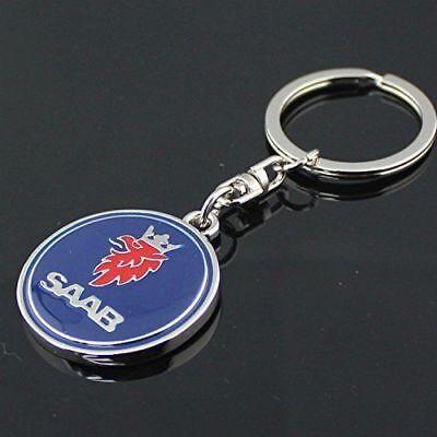 (2PK) $14.74 SAAB 3D Metal Logo Car Key Chain Keychain KEY CHAIN U.S. SELLER (2) for sale  Falls Church