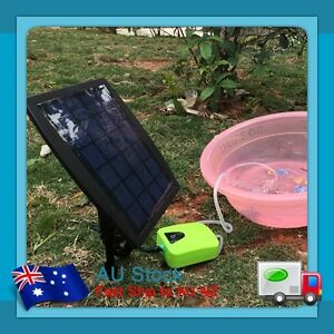Au 2 5w solar power pond oxygenator air pump oxygen pool for Solar fish for pools
