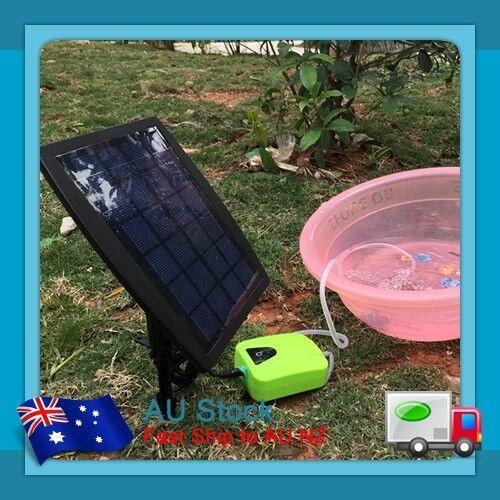 Au 2 5w Solar Power Pond Oxygenator Air Pump Oxygen Pool Aquarium Fish Tank Fish Ebay