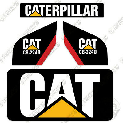 Caterpillar Cb224d Decal Kit New Style Vibratory Smooth Drum Roller Cb 224 D