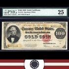 1922 $100 Gold Certificate