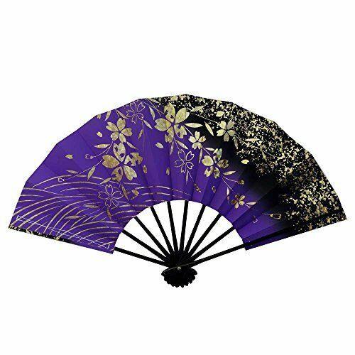 Fan for Japanese Dance Mai-ougi 3009 Gold Hologram Foil Sakura Foil 29cm 11inch