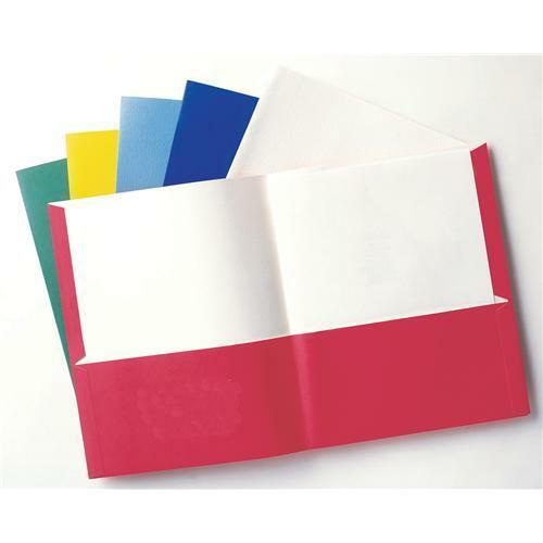 School Twin Pocket Folders, Letter Size, 125 per Box