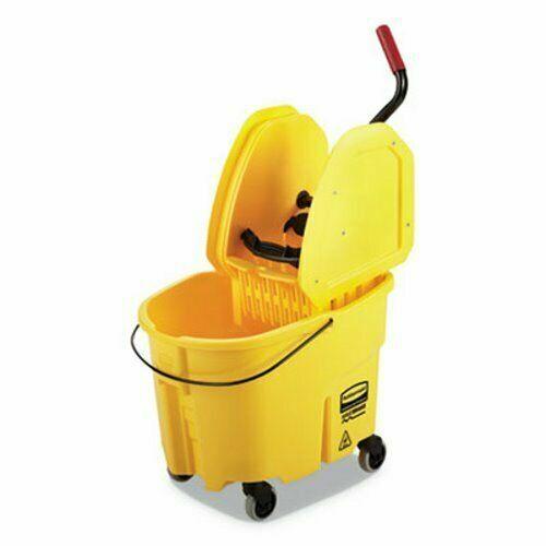 Rubbermaid Commercial 35 qt. Wringer Mop Bucket & Wringer, Yellow, FG757788YEL