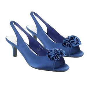 c70a8512ceac Blue Satin heeled Shoes