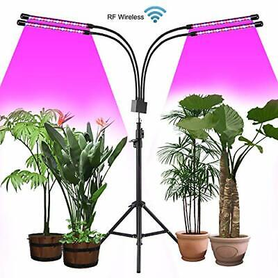 Led Plant Light with Stand,4 Head Grow Lights for Indoor Plants, with Wireless