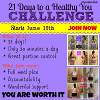 21 Day Challenge to a Healthy You starts June 15th