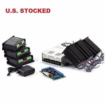 3-axis Nema23 Cnc Kit With 2 Power Supply 48v7.3a 570 Ozin