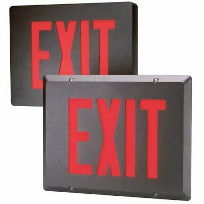 Dual-lite Sedrbnei Led Exit Sign Red Letters Aluminum Double Face Wstencil