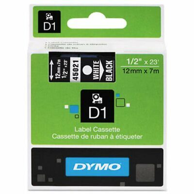 Tape Cartridge For Dymo Label Makers, 1/2 X 23 , White On Black DYM45021  - $23.10