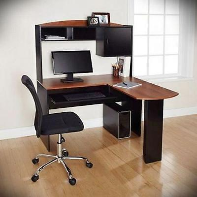 Corner Computer Desk L-Shaped Workstation Laptop Home Office Student Furniture
