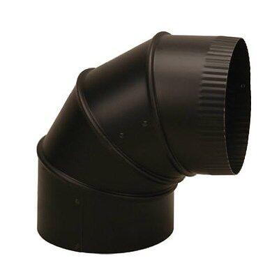 "Imperial 6"" 24 GA Black Adjustable Wood Stove Heater Elbow"