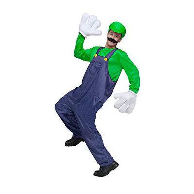 Fun World Mario Luigi Video Game Guy Adult Costume - Green (One Size - Mario World Kostüm