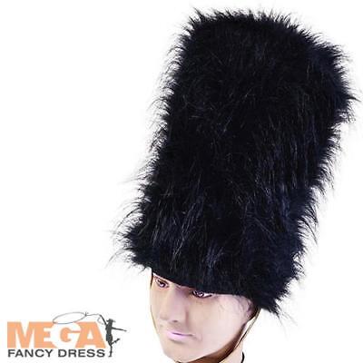 Bearskin Hat Royal Guard Fancy Dress British Queens Jubilee Costume Accessory (British Royal Guard Costume)
