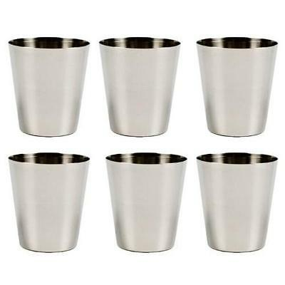 6 Pack Stainless Steel Shot Glass Glasses 1 fl oz 30ml Set of 6 New](1 Oz Shot Glass)