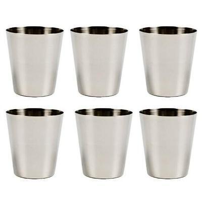 6 Pack Stainless Steel Shot Glass Glasses 1 fl oz 30ml Set of 6 New
