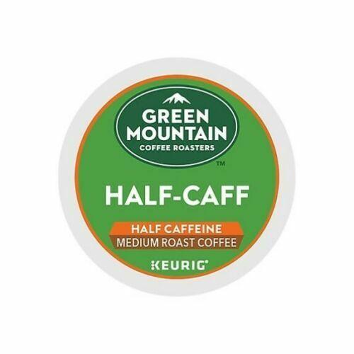 96 K-CUPS GREEN MOUNTAIN HALF-CAFF COFFEE MEDIUM ROAST-FACTORY SEALED-3DAYS DEL