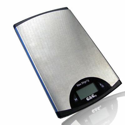 G&G KX 10kg Küchenwaage Edelstahl LCD Display Kitchen Scale