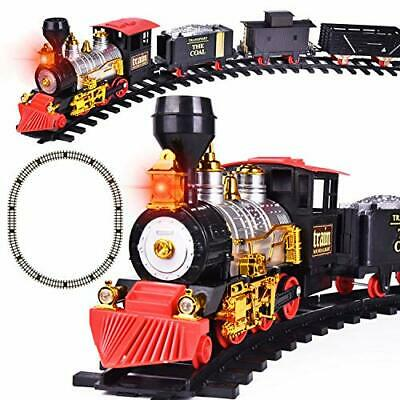 Train Set with Lights and Sounds for Under The Tree, Electric Toy christmas gift