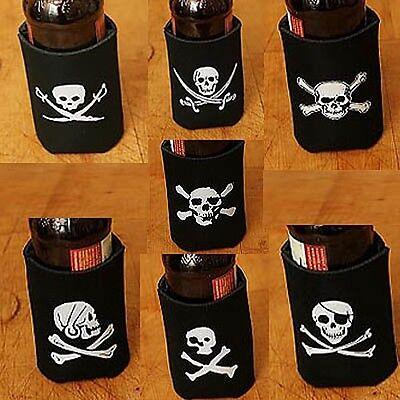 LOT OF 7 Pirate Drink Cozy Variety Set Beer Soda Can Koozie Koolie Cooler Pop