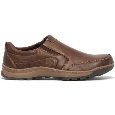 Hush Puppies Jasper Mens Brown Leather Slip On Casual Shoes Size 8-12