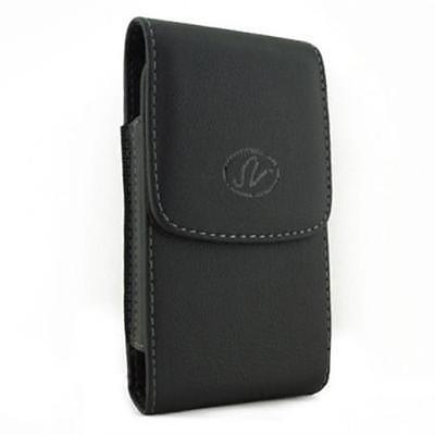 Black Vertical Leather Cover Belt Clip Side Holster Case Pouch For Nokia X2-05 05 Black Vertical Pouch