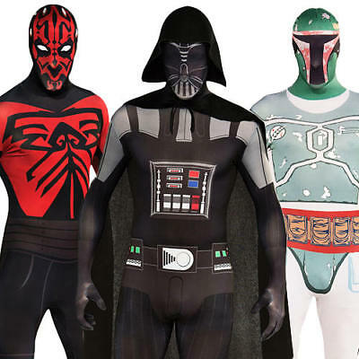Sci-fi Outfit (Star Wars Adults Fancy Dress Sci-Fi 2nd Skin Bodysuit Mens Movie Costume Outfit)
