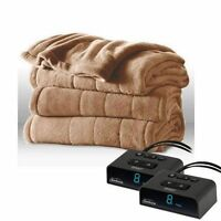 Sunbeam Channeled Microplush Heated Electric Blanket Queen size