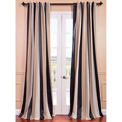 Exclusive Fabrics Georgetown Stripe Blackout Curtain Panel