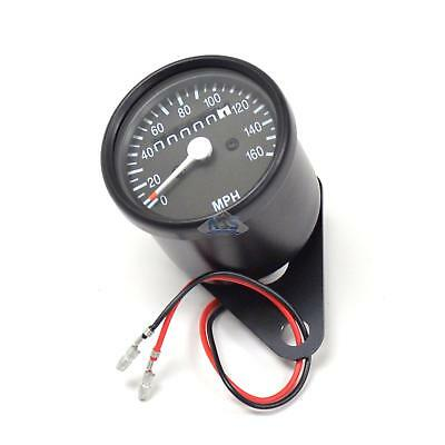 Mini Universal Black Motorcycle Mechanical 160 MPH Speedo Speedometer Gauge 1:7