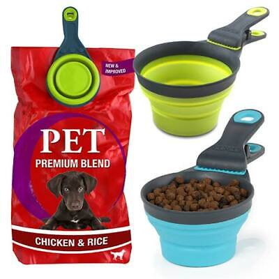 3 in 1 Pet Food Scoop Measuring Cup & Bag Sealing Clip Dog Cat Scoop Spoon