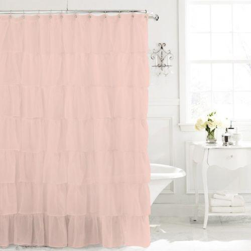 Spring Loaded Curtain Rods Target Ruffle Shower Curtain