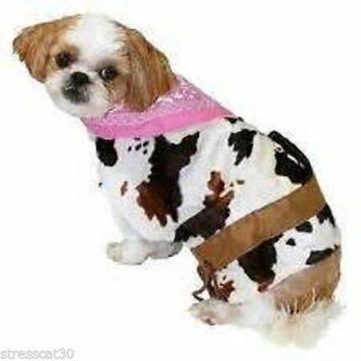 Dog PET Costume Halloween COWBOY/Cowgirl XS fits up to 10 lbs-CUTE! 1-piece - Cowgirl Halloween Costumes For Dogs