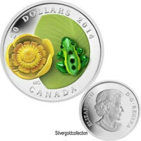 RCM-2014 Water-lily and Venetian Murano Glass Leopard Frog Coin