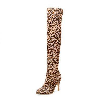 Details about  /Custom-made Pointy Toe Super High Heel Snakeskin Print Women/'s Overknee Boots L